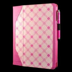 caseen   Retro Pink Plaid Smart Case Cover Stand & Hand Strap for Apple iPad 2
