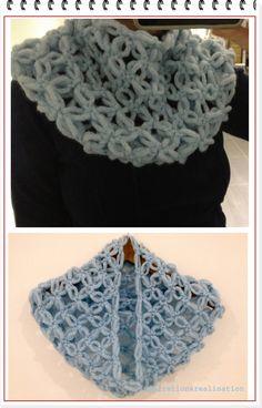 How to make a neck-scarf with Tricotin - I enrHedando