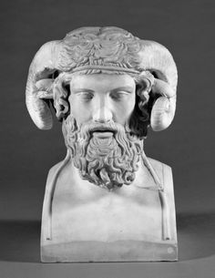 Herm of Zeus Ammon, Ince Blundell collection - World Museum, Liverpool museums Plaster Sculpture, Sculpture Head, Roman Sculpture, Classical Greece, Classical Antiquity, Statues, Hellenistic Art, Liverpool Museum, Pulp