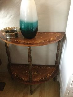 Antique semi lune very cute little space vintage find @ heyjudes antiques barn Facebook page R1650 Sunday Special, Facebook, Wood, Vintage, Home Decor, Moon, Decoration Home, Woodwind Instrument, Room Decor