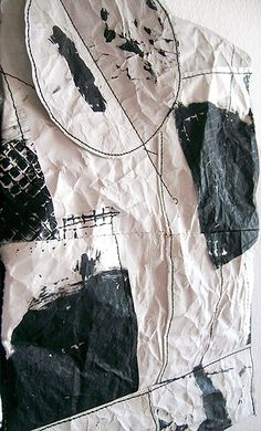 Abstract Drawings, Textile Art, Contemporary Art, Mixed Media, Sculptures, Shabby, Embroidery, Wall Art, Interior