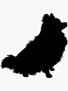 """""""Pomeranian Silhouette"""" Stickers by mkoudis Animal Silhouette, Silhouette Art, Pet Dogs, Dog Cat, Wall Decal Sticker, Decals, Long Haired Chihuahua, Acrylic Artwork, Dog Paintings"""