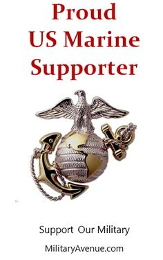 Proud Supporter of our US Marine Corps - created for http://facebook.com/MilitaryAvenue and yours to share