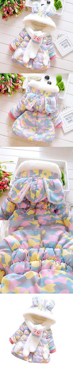 Baby Infant Girls Clothes,Laimeng Fur Winter Warm Hooded Coat Cloak Jacket Thick Warm Clothes (M, Purple)