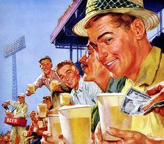 Vinyl and Other Delights - danismm: Barley and Malt Beer Beer Advertisement, Retro Advertising, Vintage Advertisements, Vintage Ads, Vintage Prints, Vintage Posters, Retro Ads, Vintage Style, Malt Beer