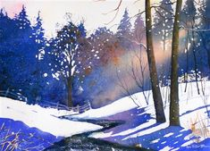 what guts to use such a bright blue for the shadows. Totally works. Sarah Bell Ann Fullerton watercolor
