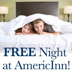 AmericInn is giving you a chance to be one of the 10 winners of a 2 night stay! So you can take that road trip adventure, and enjoy AmericInn's free breakfast, free wi-fi, and more!