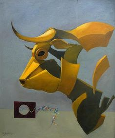 RAFAEL SANCHEZ DE ICAZA: TAUROMAQUIA Taurus Art, Bull Painting, Arabian Art, Geometric Painting, Graffiti Lettering, Animal Sketches, Collages, Wildlife Art, Street Artists