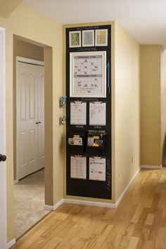 Better Homes and Gardens - Central Command Center - Small Space Family Command Center Small Space Hacks, House, Home Organization, Small Spaces, Home Command Center, Home Diy, Better Homes, Small Apartments, Home Projects