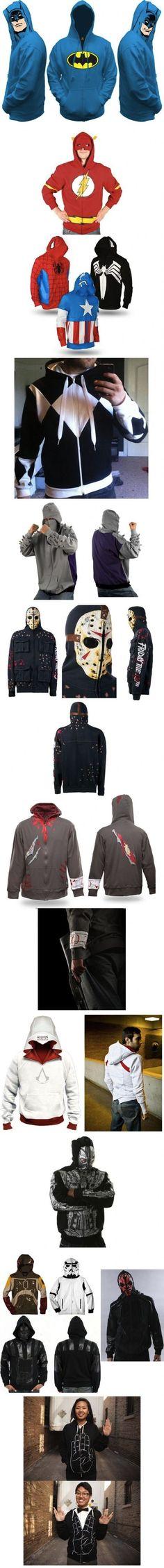My kind of hoodies!