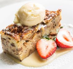 ... that sweet tooth. Warm Bread Pudding: Raisins, Bourbon Crème Anglaise
