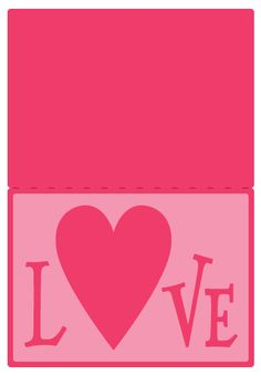 Love Cut-Out Card This Love themed card has a cut-out sentiment panel which allows you to adhere patterned or glitter papers, ribbons, background patterns or even fabric behind it to show through t…