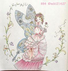Instagram media miki21427 - . おはようございます。 今朝はいいお天気なので、明るく写真撮れたかな✨ お久しぶりの #お姫さまと妖精のぬり絵ブック です。 . ピンクのドレスを頑張りすぎて、ブルーの羽はちょっと力尽きた感が でもドレスはイメージ通りに仕上がったので満足 . #大人の塗り絵 #コロリアージュ #coloriage #coloring #coloringbook #adultcolouring #adultcoloringbook