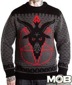 Goat Head Pentagram Sweater