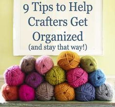 Small spaces, crafting nooks and worktables sometimes need a little help getting organized, use these tips to keep crafting clean, tidy and under control!