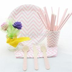 Crystal Emotion 100 Sets Lovely Baby Pink Party Tableware Set Chevron Polka Dot Striped Paper Straw Cup Plate Napkin Spoon Fork Knife http://www.easterdepot.com/crystal-emotion-100-sets-lovely-baby-pink-party-tableware-set-chevron-polka-dot-striped-paper-straw-cup-plate-napkin-spoon-fork-knife/ #easter  type:event & party supplies,other festive & party supplies is_customized:yes color:pink brand name:palmy party supplies specification:0.7-0.9m mfg series number:party hot dance occasi..