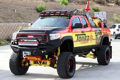 Toy Truck Maker Tonka Dabbles in Adult-Sized Toys With These Monstrous Pickups: Vroom vroom, smash smash. Toyota 4x4, Toyota Trucks, Rc Trucks, Toyota Tundra, Custom Trucks, Custom Cars, Jeepney, Top Luxury Cars, Hot Wheels Cars