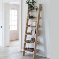 Solid Oak Ladder Shelf