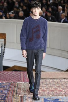Paul Smith Men's RTW Fall 2014 - a touch of maroon - WWD.com