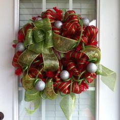 Mesh Christmas Wreaths | christmas wreaths