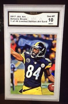 Details about 2017 Antonio Brown Art Card  49 Steelers ACEO Gem MT 10 1cb5cac8b
