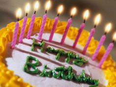 Happy Birthday Candle Cake With Name
