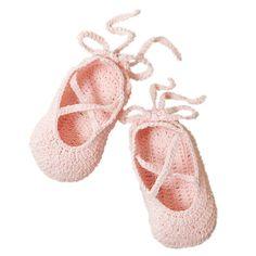 Ballerina Bootie Hand Crocheted Pink