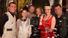Smaragdgrün - Gideon (Jannis Niewöwner), Drehbuchautorin Katharina Schöde, Gwendolyn (Maria Ehrich) & Regisseur Felix Fuchssteiner | Behind the scenes