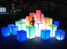 Singapore's Luminous i Light Festival Will Be Lit Up by Shimmering LED Sculptures Stage Set Design, Church Stage Design, Bühnen Design, Event Design, Pixel Design, Corporate Design, Festival Lights, Art Festival, Yoga Festival
