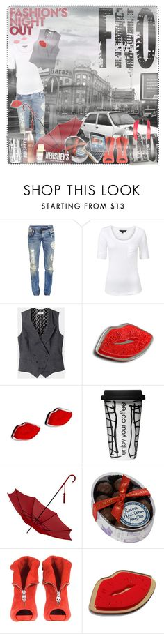 """FNO Contest"" by simke ❤ liked on Polyvore featuring Fashion's Night Out, Diesel, Great Plains, Toast, Sweet & Co., Sagaform, Aspinal of London, Rococo, Hershey's and Alexander McQueen"