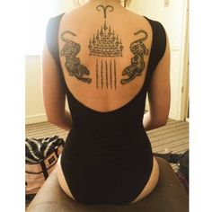 Tattoos in Thailand come with age old tradition and religious practices. #inked #tattoo #inkedmag #thai #thaitattoo #backtattoo