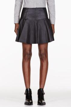 Rag And Bone #Black Panelled #Leather #Skirt