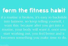 Fitness habit