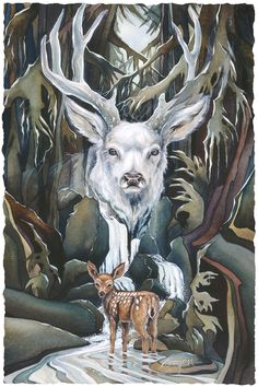 Wildheart by Jody Bergsma ~ wild animals ~ deer Animal Paintings, Animal Drawings, Motifs Animal, Deer Art, Animal Totems, Wildlife Art, Wild Hearts, Native American Art, Spirit Animal