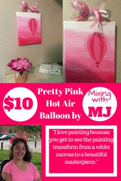 Pretty Pink Hot Air Balloon by Mixing with MJ.