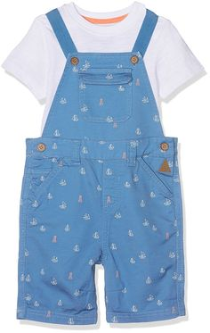 44d200612b02b Mothercare Baby Boys' Mb Lab Aop Bibshort and Tee Set T-Shirt Hipster Baby