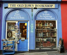 The Old Town Bookshop | Edinburgh, Scotland - how did I miss this shop?
