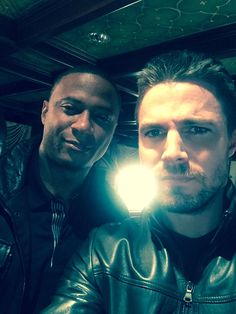 Stephen Amell on Twitter: Go towards the light. #Arrow100 -- Stephen & David - BTS
