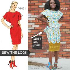 Sew the Look: We love Sew Urbane's version of Vogue Pattern V9021 dress. She added the flirty peplum. Chic! And great fabric choice.