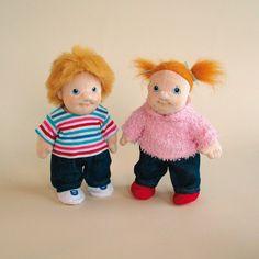 Fratello e sorella - Empathy Doll - Faccine simpatiche per giocare, bambole snodabili, ideali per il gioco rappresentativo.