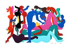 View Orgy 3 By Walter Battiss; Access more artwork lots and estimated & realized auction prices on MutualArt. Walter Battiss, Illustrations, Illustration Art, Contemporary African Art, South African Artists, Art Database, Magazine Art, Top Artists, Art Market