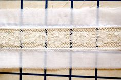 easy lace insertion http://wearinghistoryblog.com/2012/04/tutorials-basic-lace-insertion-by-machine/