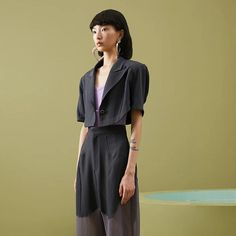 Lost Sailor Cropped Blazer Cropped Blazer, Sailor, Trousers, Shirt Dress, Sleeves, Model, How To Wear, Lost, Shirts