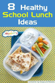 8 healthy school lunch ideas from @Momables