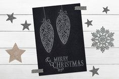 Joulupallot Swirls, Merry Christmas, Stamp, Stickers, Cards, Merry Little Christmas, Happy Merry Christmas, Stamps, Wish You Merry Christmas