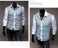 2017 New Fashion Men's Shirts Pure Color Business Shirts Casual Slim Fit Stylish Hot Dress Shirts 3 Colors Corporate Shirts, Corporate Uniforms, Business Shirts, Business Casual, The Office Shirts, Work Shirts, Men's Shirts, Long Sleeve Shirt Dress, Long Sleeve Shirts