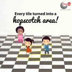Having the luxury of tiled homes in our houses meant our own hopscotch game. #property#chennai#hopscotch game