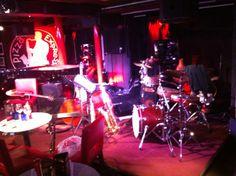 Before a gig at Pizza Express Jazz Club