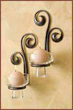 Custom candle holder by Burnett Forge www.burnettforge.com