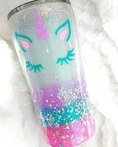 20 oz FREE SHIPPING Winter Insulated Gift for Woman Mom Snowflake Holographic Glitter Pink Cup Stainless Steel with Straw